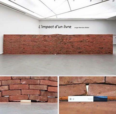 a book under a wall